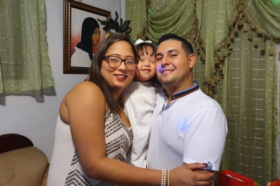 Isabella Aguilar y su familia