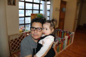 Luciana con su papá Gabriel