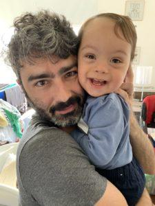 Sebastián con su papá