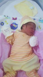 Celeste recién nacida