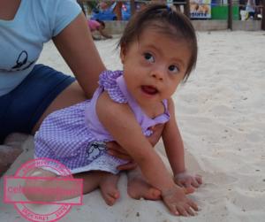 Celeste en la playa