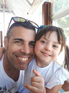 Inés con su papá