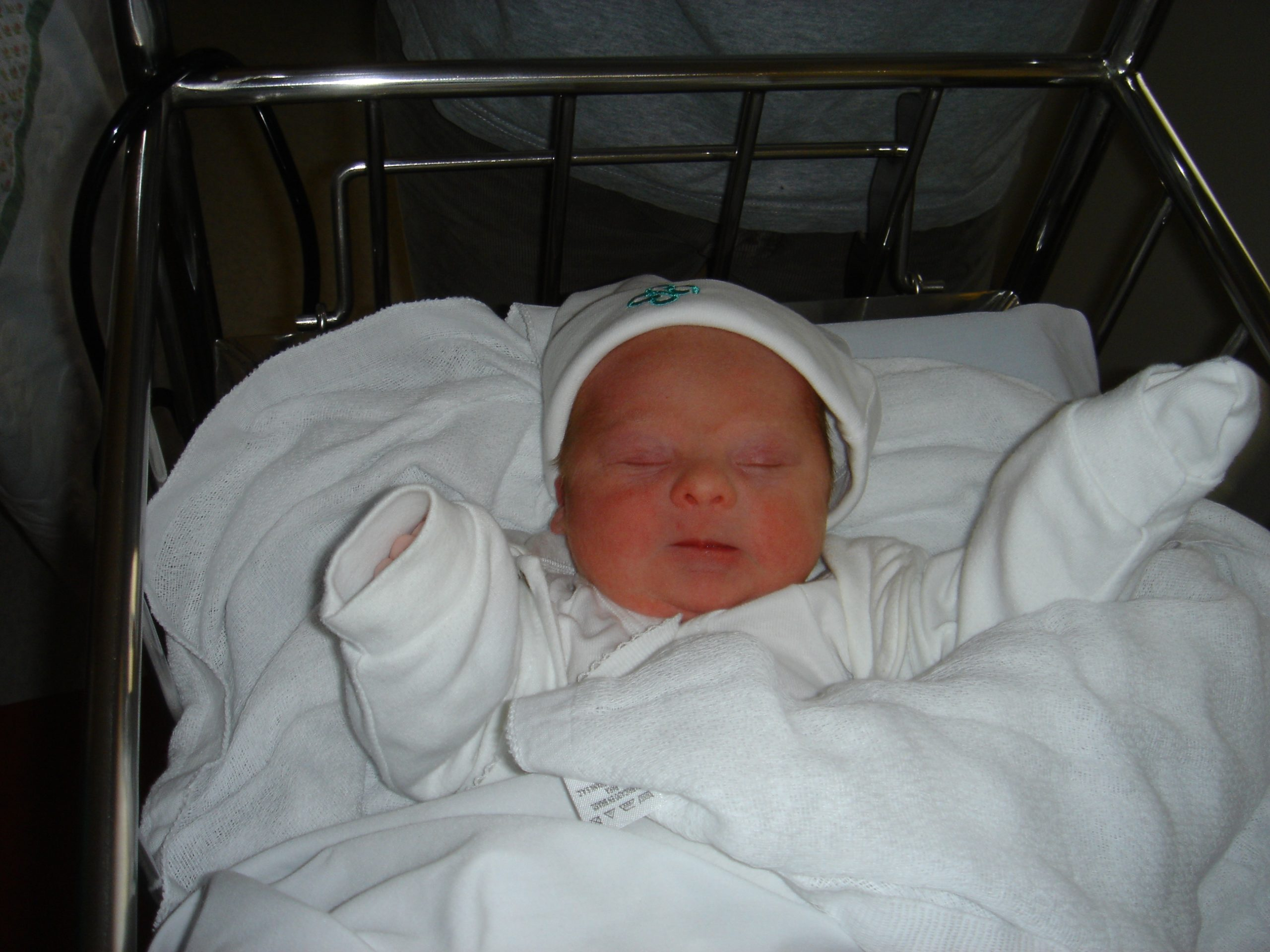 Lucas bebé con síndrome de Down recien nacido