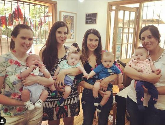 bebés con síndrome de Down en Chile y sus mamás
